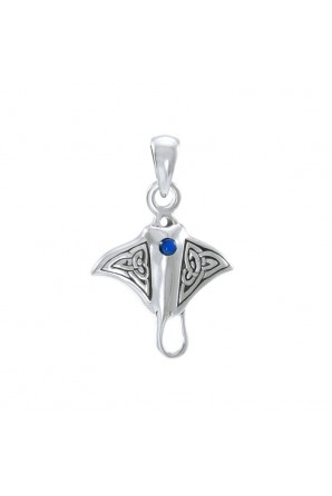 Small Celtic Manta Ray Pendant