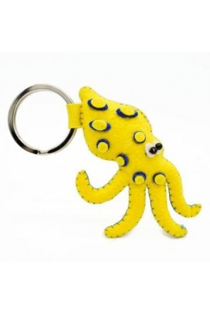 Blue-Ringed Octopus Keychain Looney