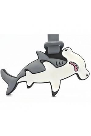 Mocha Hammerhead Shark Luggage Tag