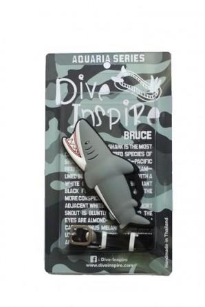 Bruce Black Tip Reef Shark Luggage Tag