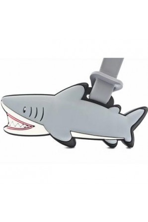 Etiqueta de maleta tiburón...