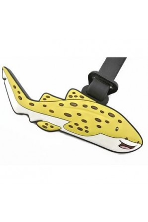 Leo Leopard Shark Luggage Tag