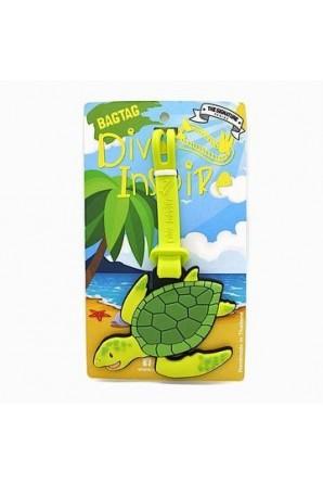 Sunny Green Sea Turtle Luggage Tag