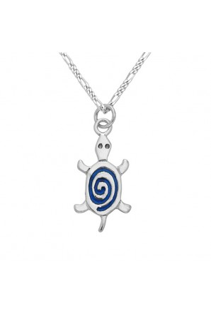 Turtle pendant spiral with...