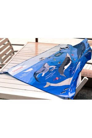 Cetaceans pattern towel Big Blue