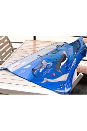 Großes Handtuch Wale