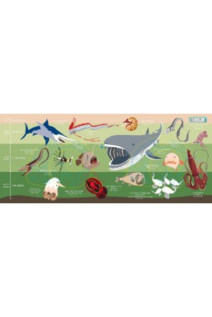 Deep Sea Creatures pattern towel Medium Green