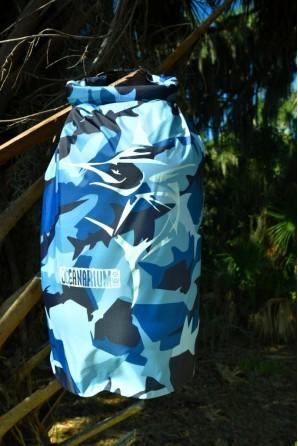 Borsa impermeabile mimetica azurro 15 L. Marlin