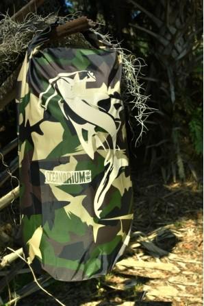 Camuflagem Verde Saco Impermeável  Tubarão-Martelo 15l