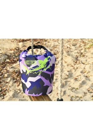 Purple Camo Drybag porpora 5 L. Tiger Shark