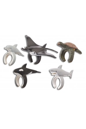 Pack 5 Rings Marine Animals