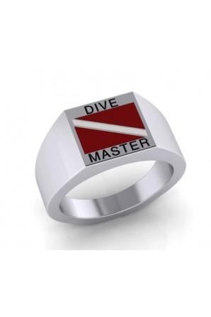 Dive Master Diving Flag Ring