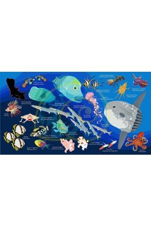 Sunfish pattern towel Big...