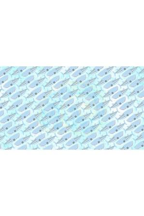 Whaleshark pattern towel  blue