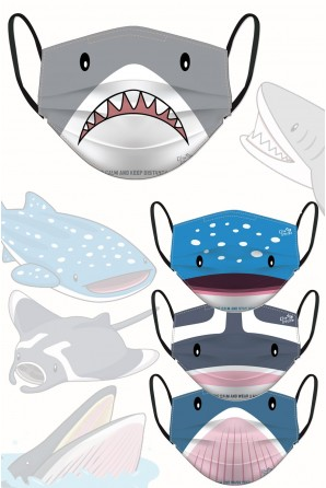 Masques d'animaux marins