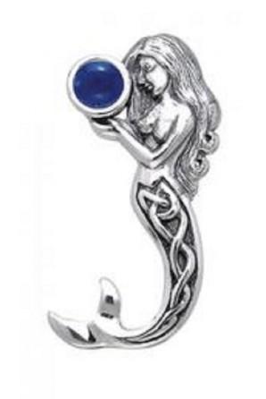Colgante de Sirena con Gema
