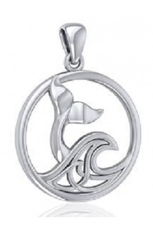 Whale Tail Pendant with...