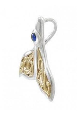 Pingente de Cauda de Baleia Celta com Ouro