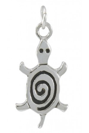 Turtle With Spiral  Charm