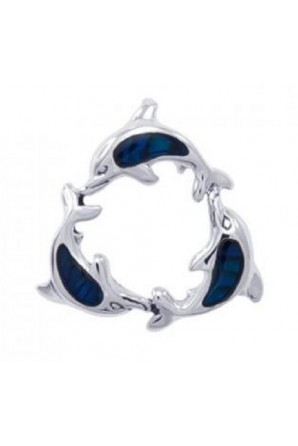 Dolphin Pendant with Blue...