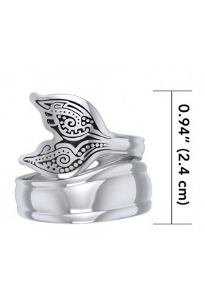 Aboriginal Whale Tail Spoon Ring