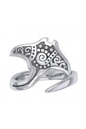 Aboriginal Manta Ray Ring