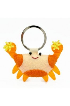 Pom Pom Crab Keychain Pomme