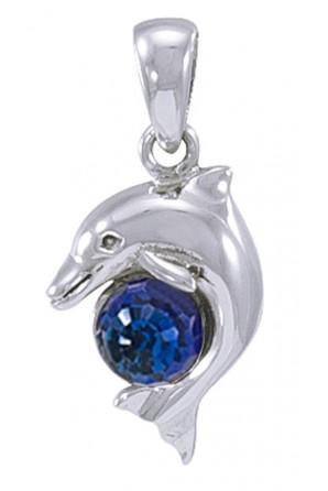 Colgante Delfín con Cristal