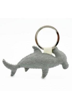 Hammerhead Shark Keychain Mocha