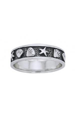 Starfish and shell Ring...