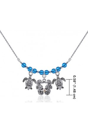 Horses and turtles necklace