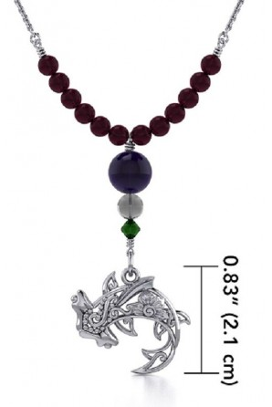 Hammerhead Shark Necklace with Filigree