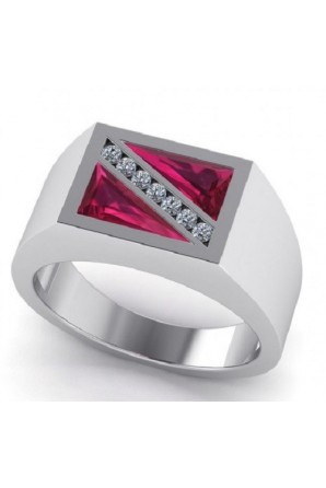 Flag Dive Ring  with Zirconia