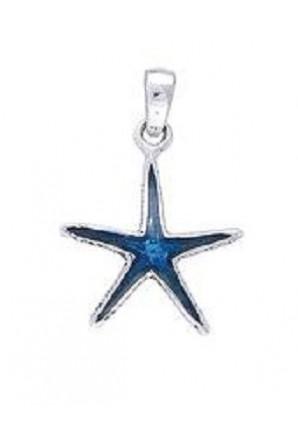 Pendentif Étoile Bleu