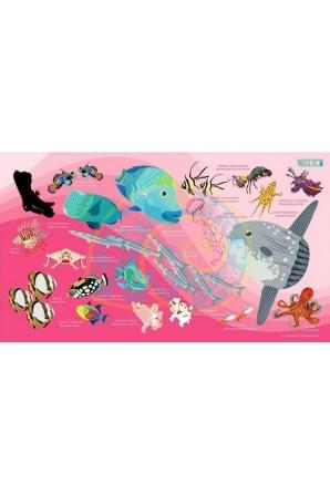 Sunfish pattern towel Big Pink