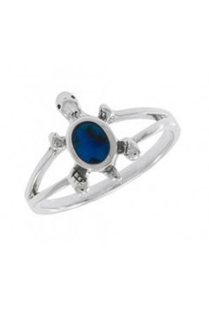 Anello tartaruga blu