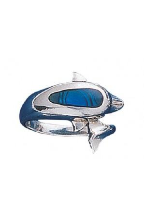 Anello Delfino Grande Azzurro