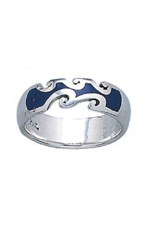 anello Onda Oceano Smalti