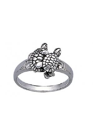 Anillo par de tortugas