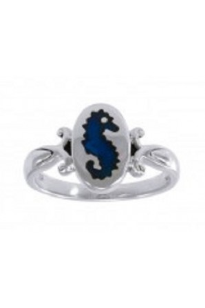 Ring Blue Seahorse