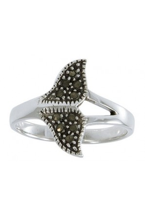 Marcasite Humpback Whale Ring