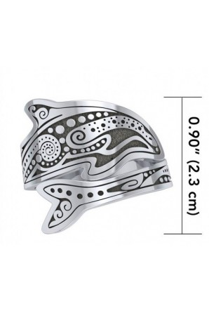 Aboriginal Dolphin Spoon Ring