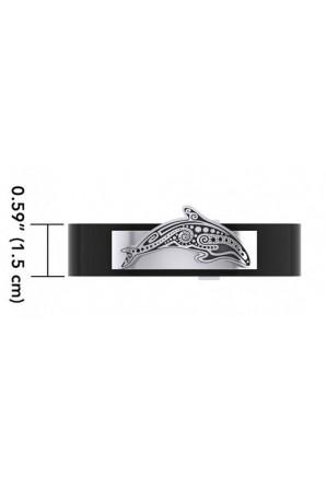 Bracelet en Cuir avec Aborigène Baleine Meurtrière