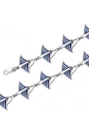 Bracelet Raie Aigle Bleu