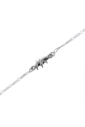 Twin Dolphins Anklet