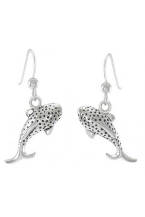Small Whale Shark Hook Earring