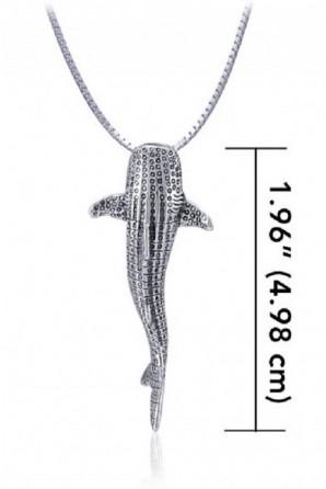 Pingente de Tubarão-baleia Vertical Médio sem link