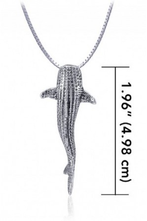 Vertical Medium Whale Shark Pendant without link