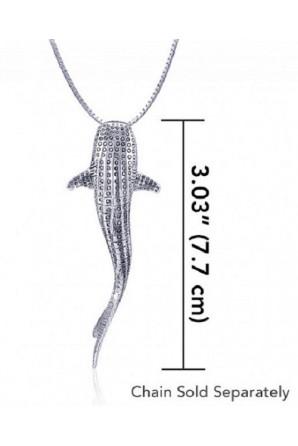 Ciondolo Grande Squalo Balena verticale Senza Maglie