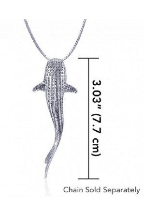 Vertical Grand Whale Shark Pendant without link